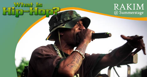 The God Emcee – Rakim moves the crowd in Red Hook, Brooklyn