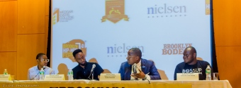 Chad Foster, Brandon Hixon, Aubrey Flynn and Anthony Frasier discuss business and technology at the Brooklyn Hip-Hop Institution Conference