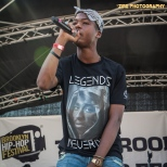 Rapper Stro peforms at the 11th Annual Brooklyn Hip-Hop Festival held at Williamsburg Park on July 11, 2015 in Brooklyn, NY