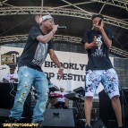 Rapper Stro and DmyeADuzin perform peforms at the 11th Annual Brooklyn Hip-Hop Festival held at Williamsburg Park on July 11, 2015 in Brooklyn, NY