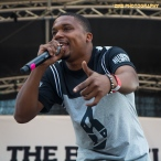 Rapper Charles Hamilton peforms at the 11th Annual Brooklyn Hip-Hop Festival held at Williamsburg Park on July 11, 2015 in Brooklyn, NY