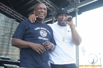 Video Music Box, VJ Ralph McDaniels at the 11th Annual Brooklyn Hip-Hop Festival held at Williamsburg Park on July 11, 2015 in Brooklyn, NY