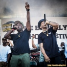 Havoc and Prodigy of Mobb Deep perform at the 11th Annual Brooklyn Hip-Hop Festival held at Williamsburg Park on July 11, 2015 in Brooklyn, NY