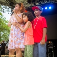 PH's wife and two sons thank the crowd and fans at the Pumpkinhead Tribute performance at the Rock Steady Crew 38th Annual Celebration held on Sunday, July 26, 2015 at Central Park in New York City