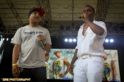 Big Daddy Kane invites the Legendary Producer Marley Marl to the stage to perform the Symphony Live Performance at the Rock Steady Crew 38th Annual Celebration held on Sunday, July 26, 2015 at Central Park in New York City