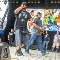 Big Daddy Kane invites the Legendary Rapper Kool G Rap and DJ Polo to the stage to perform the Symphony Live Performance at the Rock Steady Crew 38th Annual Celebration held on Sunday, July 26, 2015 at Central Park in New York City