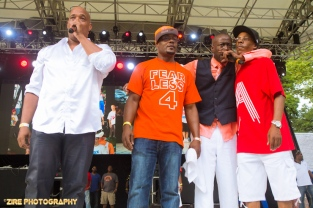 Hip-Hop Legends Whodini and UTFO give a Live Performance at the Rock Steady Crew 38th Annual Celebration held on Sunday, July 26, 2015 at Central Park in New York City