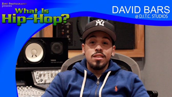 David Bars talks about hip-hop and his new project.